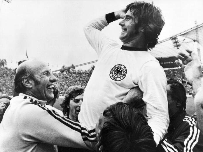 Gerd Müller con la selección alemana