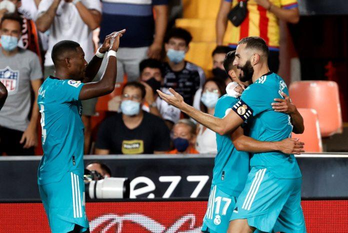 Resumen LaLiga J5: Karim Benzema celebrando su gol