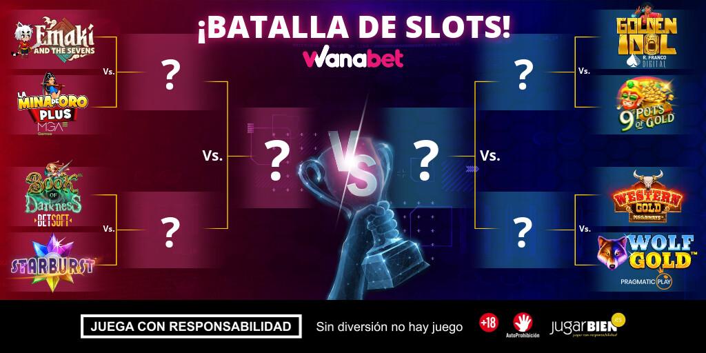 Cuadro de Batalla de slots | Cuartos de final | Wanabet